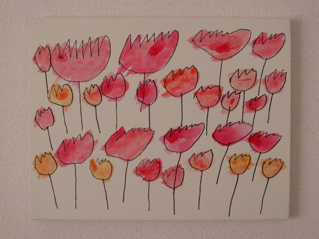 『チューリップの花』西岡めぐみ