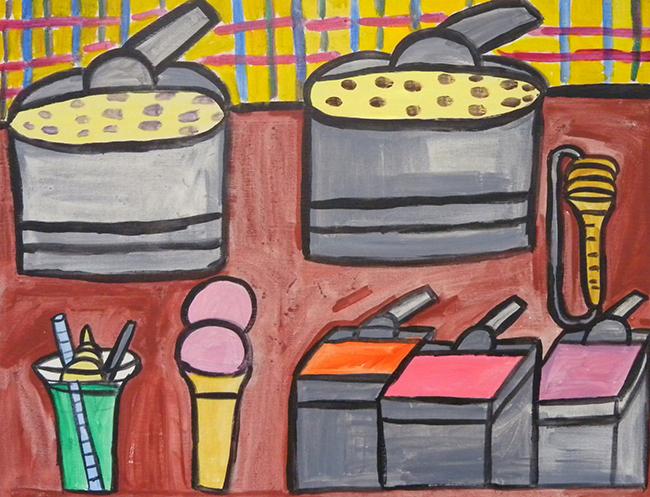 『アイスクリームのある食べ物』竹植耕平